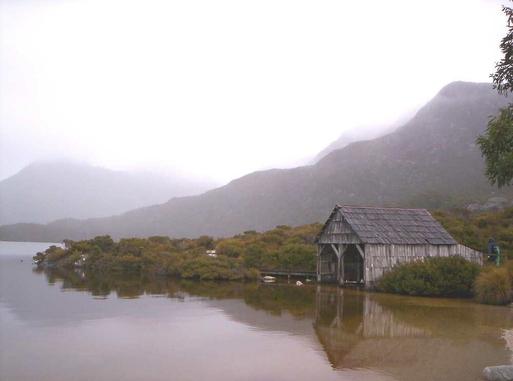 Misty day at Dove Lake,   Tasmania by gaylene