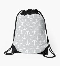 Anchors Aweigh - gray Drawstring Bag