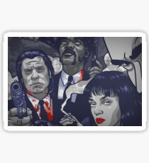 Vincent Vega,Marsellus Wallace, Mia Wallace Sticker