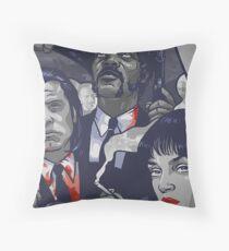 Vincent Vega,Marsellus Wallace, Mia Wallace Throw Pillow
