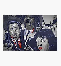 Vincent Vega,Marsellus Wallace, Mia Wallace Photographic Print