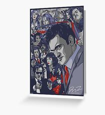 Quentin Tarantino Filmography Greeting Card