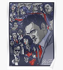 Quentin Tarantino Filmography Poster