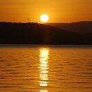 GOLDEN GLOW OVER TORONTO  by Bev Woodman