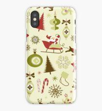 Cartoon Christmas Festive Pattern  iPhone Case/Skin