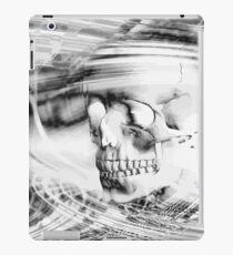 Totenkopf - schwarz-weiß iPad Case/Skin