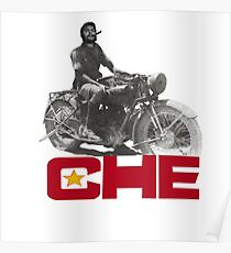 CHE GUEVERA MOTORCYCLE Poster