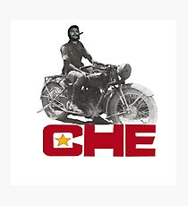 CHE GUEVERA MOTORCYCLE Photographic Print