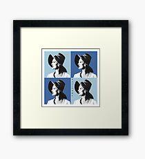 Candice Warhol Blue Framed Print