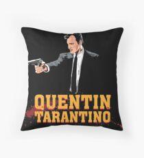 Tarantino Biography Poster Throw Pillow