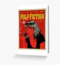 Cartel Uma Thurman, Pulp Fiction 10c Greeting Card