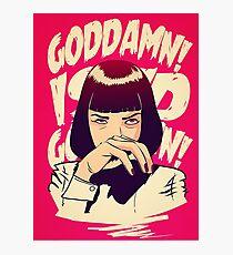 Uma Thurman, Pulp Fiction Poster Photographic Print