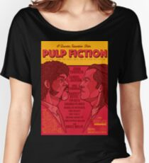 Marsellus y Vincent, Pulp Fiction cartel Women's Relaxed Fit T-Shirt