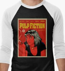 Cartel Uma Thurman, Pulp Fiction 10c Men's Baseball ¾ T-Shirt