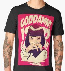 Uma Thurman, Pulp Fiction Poster Men's Premium T-Shirt