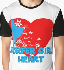 Surfer Girl at Heart Graphic T-Shirt