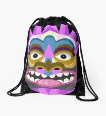 Tiki Time Tribal Mask Drawstring Bag