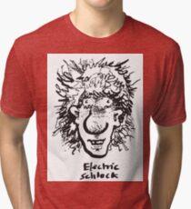 Haircut- Electric schlock Tri-blend T-Shirt