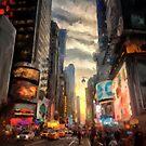 New York City Lights by Lois  Bryan