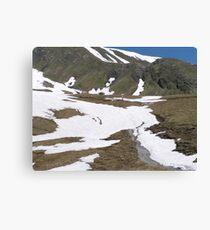 Hiking in Switzerland Canvas Print