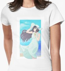 Girl on the beach Women's Fitted T-Shirt