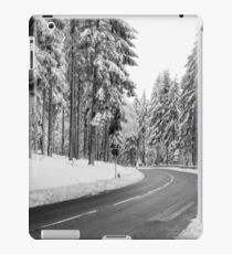 Mountain Road Covered by Snow. iPad Case/Skin