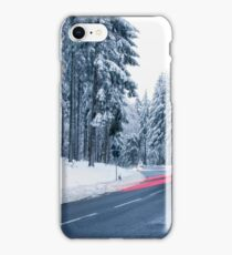 Mountain Road Covered by Snow iPhone Case/Skin