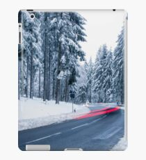 Mountain Road Covered by Snow iPad Case/Skin