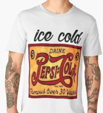 Ice cold drink Pepsi Cola Vintage rusty Antique T-shirt Men's Premium T-Shirt