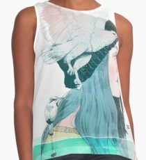 SEA AND AIR by elenagarnu Contrast Tank