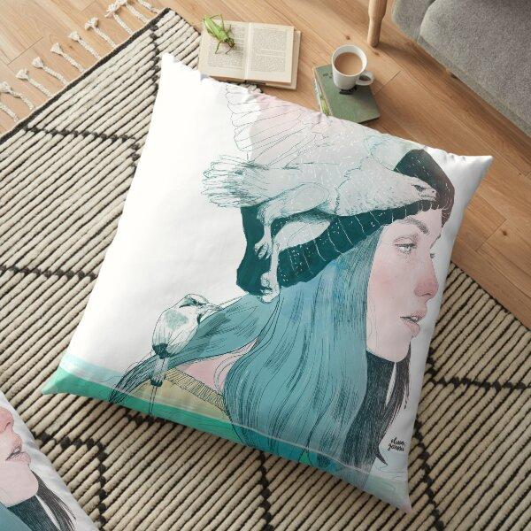 SEA AND AIR by elenagarnu Floor Pillow