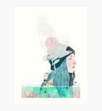 MAR Y AIRE by elenagarnu Lámina artística