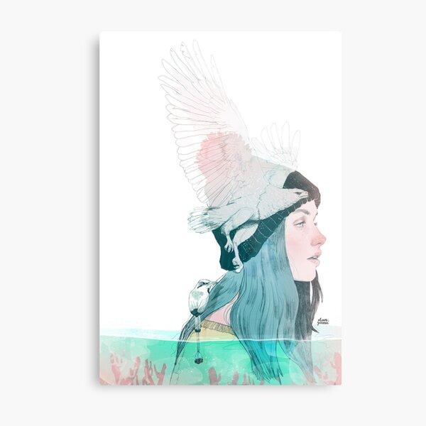 SEA AND AIR by elenagarnu Metal Print