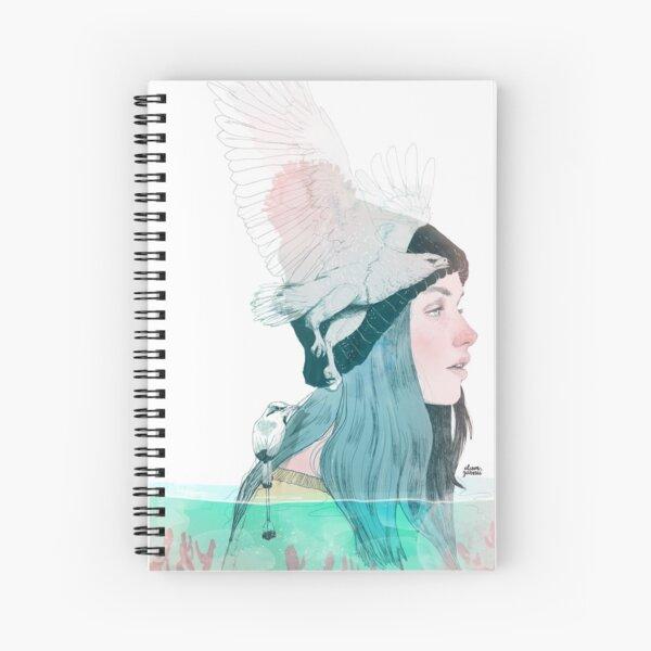 SEA AND AIR by elenagarnu Spiral Notebook