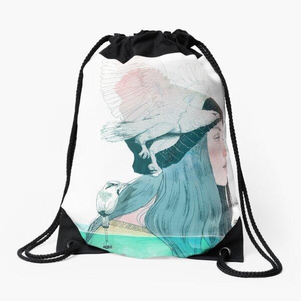 SEA AND AIR by elenagarnu Drawstring Bag