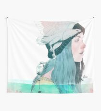 SEA AND AIR by elenagarnu Wall Tapestry