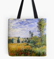 Vetheuil - Impressionist Landscape - Claude Monet Tote Bag