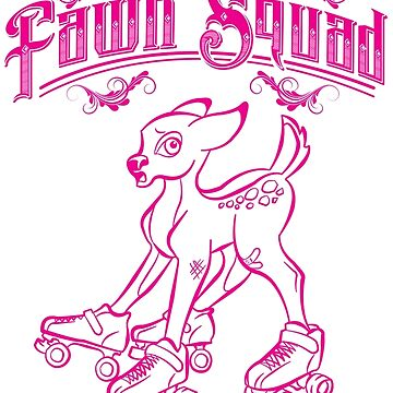 Fawn Squad - pink by quadcitymisfits