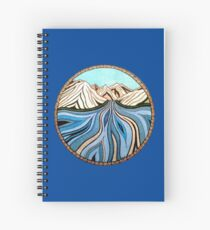Glacial River Spiral Notebook