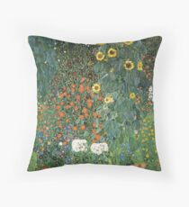 Gustav Klimt - The Sunflower Throw Pillow