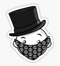 Mr. Monopoly Mann (Grau) Sticker