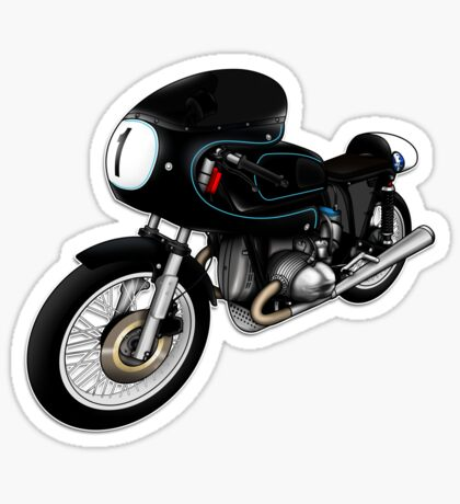 Motorcycle T-shirts Art: Black on Black Sticker
