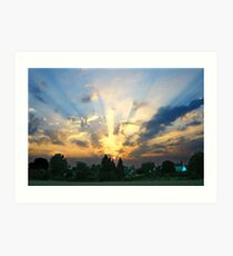 Hunter's Park, Twyford Art Print