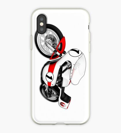 Motorcycle T-shirts Art: White & Red iPhone Case