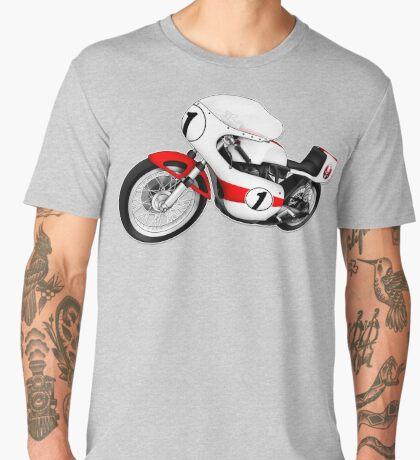 Motorcycle T-shirts Art: White & Red Men's Premium T-Shirt