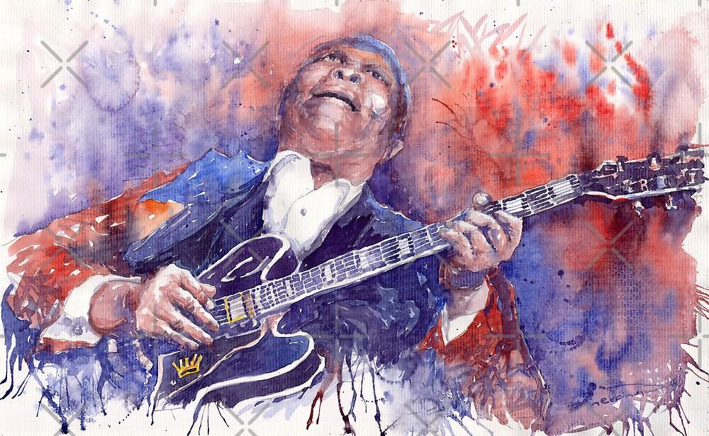 Jazz B B King 05 Red by Yuriy Shevchuk