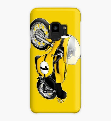 Motorcycle T-shirts Art: Yellow & black Case/Skin for Samsung Galaxy