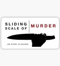 Sliding Scale of Murder Sticker