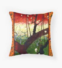 Van Gogh - Flowering Plum Orchard, after Hiroshige Throw Pillow