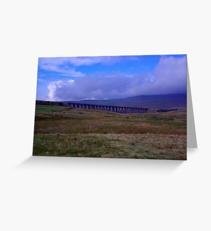 A View of Ribblehead Viaduct Greeting Card